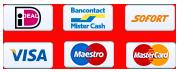 iDeal - VISA - MasterCard - Maestro - SoFort - BanContact